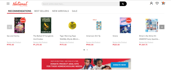 Online Shopping Sites Philippines - National Bookstore