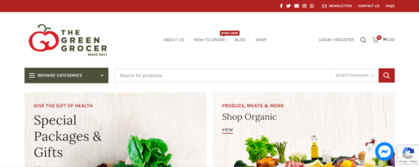 Online Shopping Sites Philippines - The Green Grocer