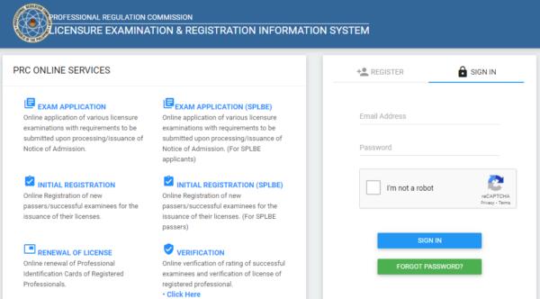 PRC ID Online Registration and Renewal - PRC License ID