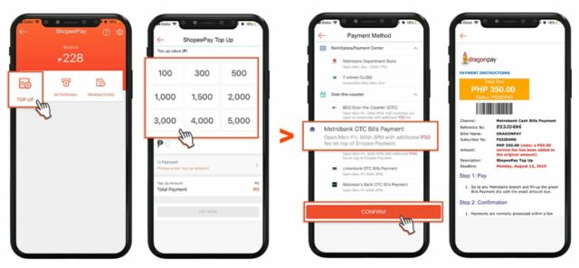 shopeepay guide - how to top up shopeepay