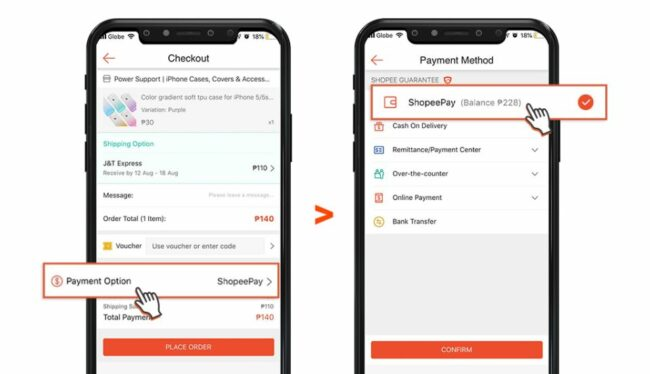shopeepay guide - change payment method