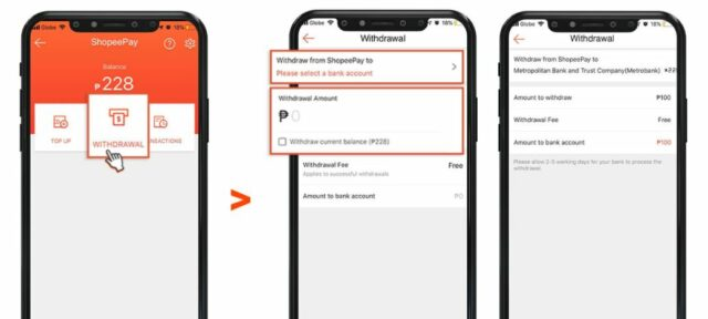 shopeepay guide - how to withdraw