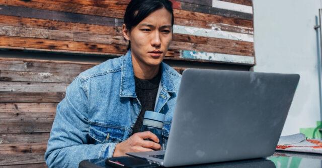 credit card installment plans - working laptop