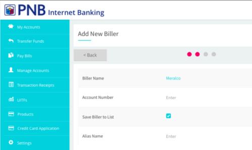 pnb online banking guide - bills payment
