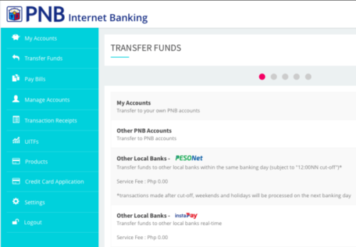 pnb online banking guide - fund transfer
