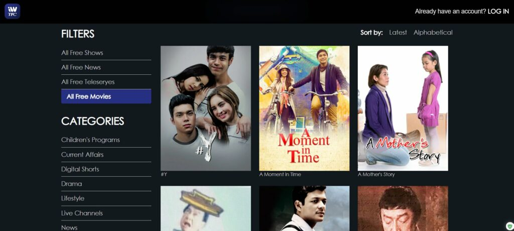 pinoy movie sites - iwantv